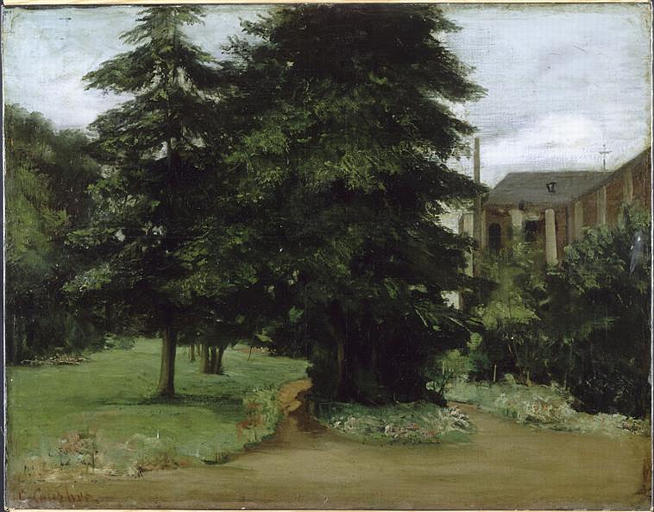 The Garden of the Loos les Lille Abbacy, 1851 - Gustave Courbet