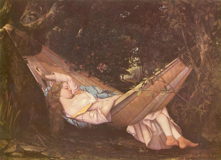 The Hammock, 1844 - Gustave Courbet