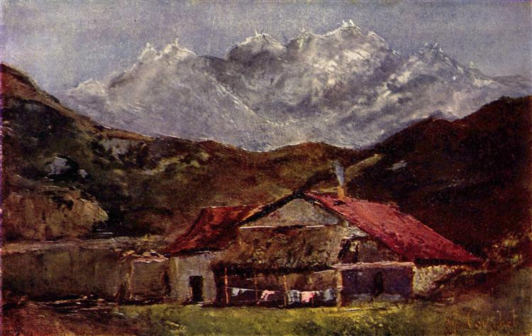 The Mountain Hut - Gustave Courbet