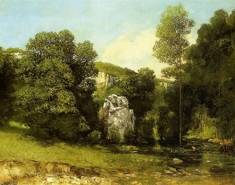 The Stream in Bremen, 1865 - Gustave Courbet