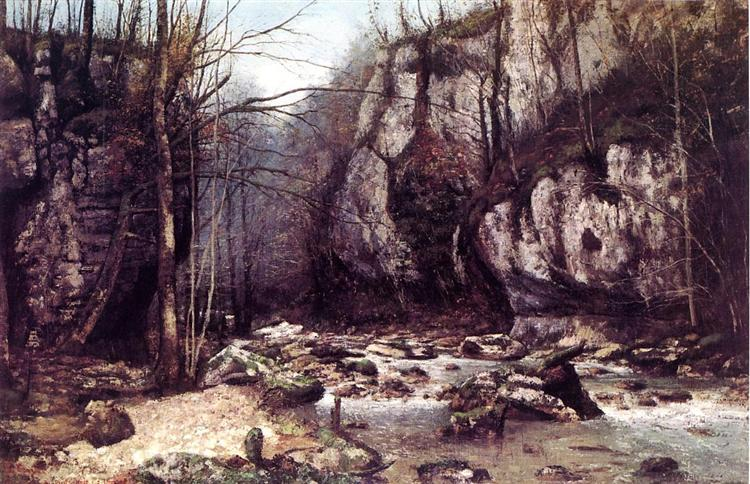 The Stream of the Puits Noir at Ornans, 1868 - Gustave Courbet