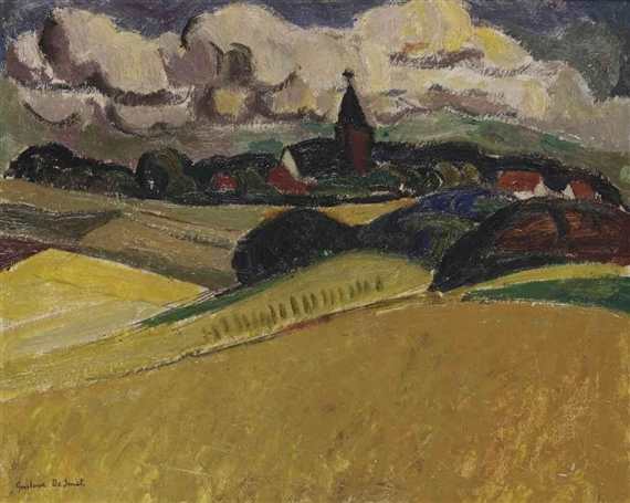 A view of Blaricum, 1917 - Густав де Смет
