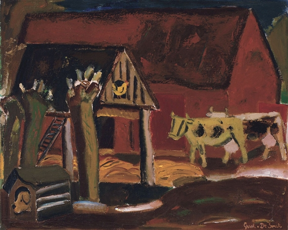 Barnyard with Herd, 1936 - Густав де Смет