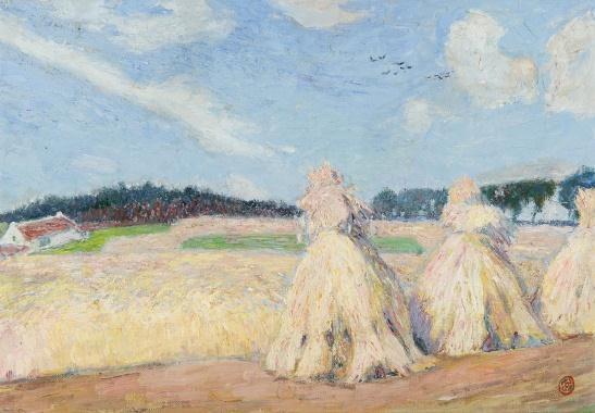Haystacks, 1914 - Густав де Смет
