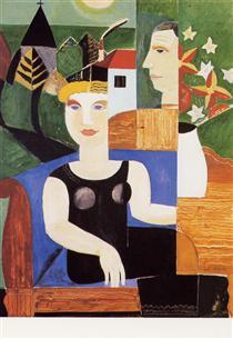 L'artiste et sa femme - Густав де Смет