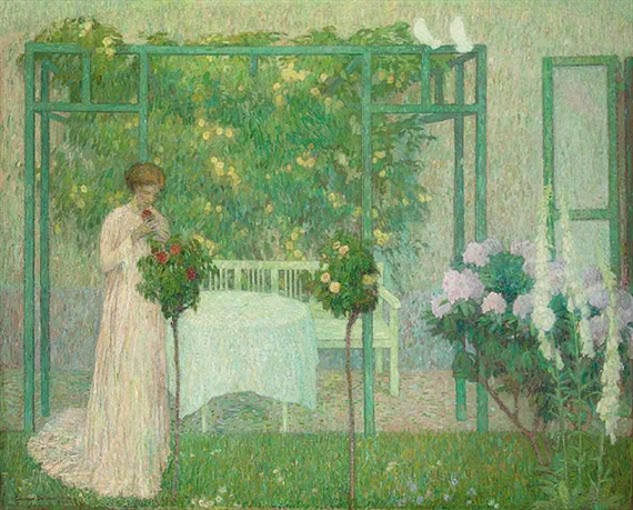 La femme au rosier, 1912 - Густав де Смет