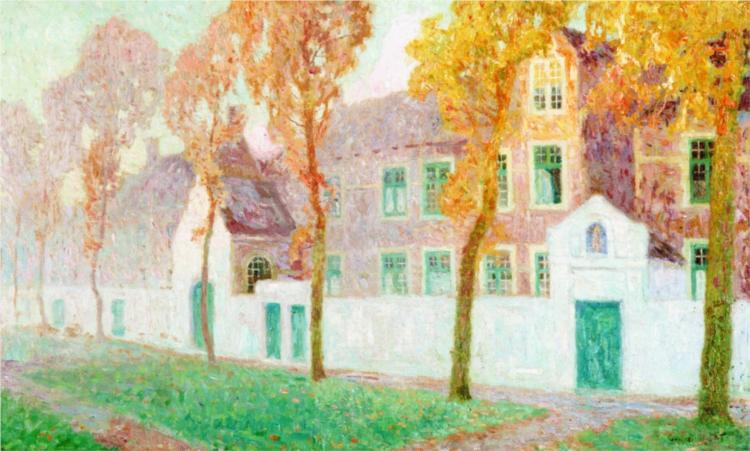 The Beguine Convent in Bruges, 1906 - Gustave de Smet
