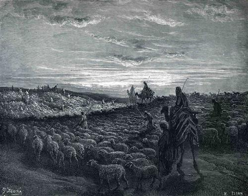 Abraham Journeying Into the Land of Canaan - Gustave Dore