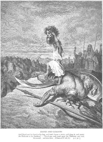 David Slays Goliath - Gustave Dore