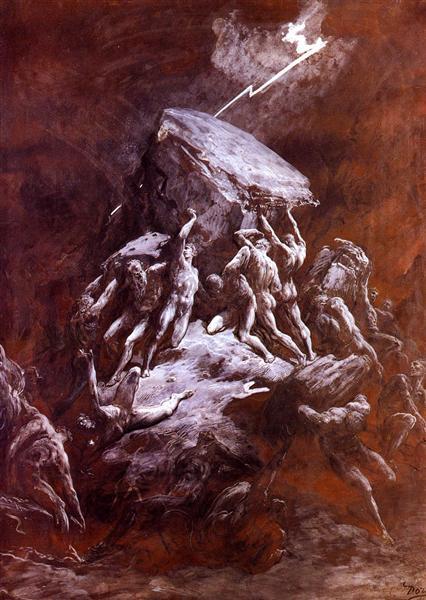The Clash of the Titans, 1866 - Gustave Dore