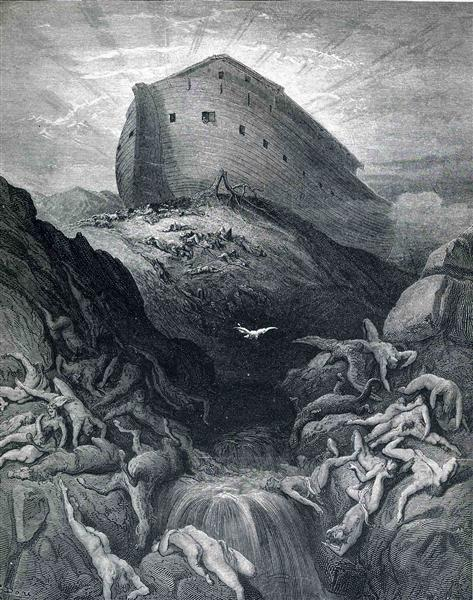 The Dove Sent Forth From The Ark - Dore Gustave