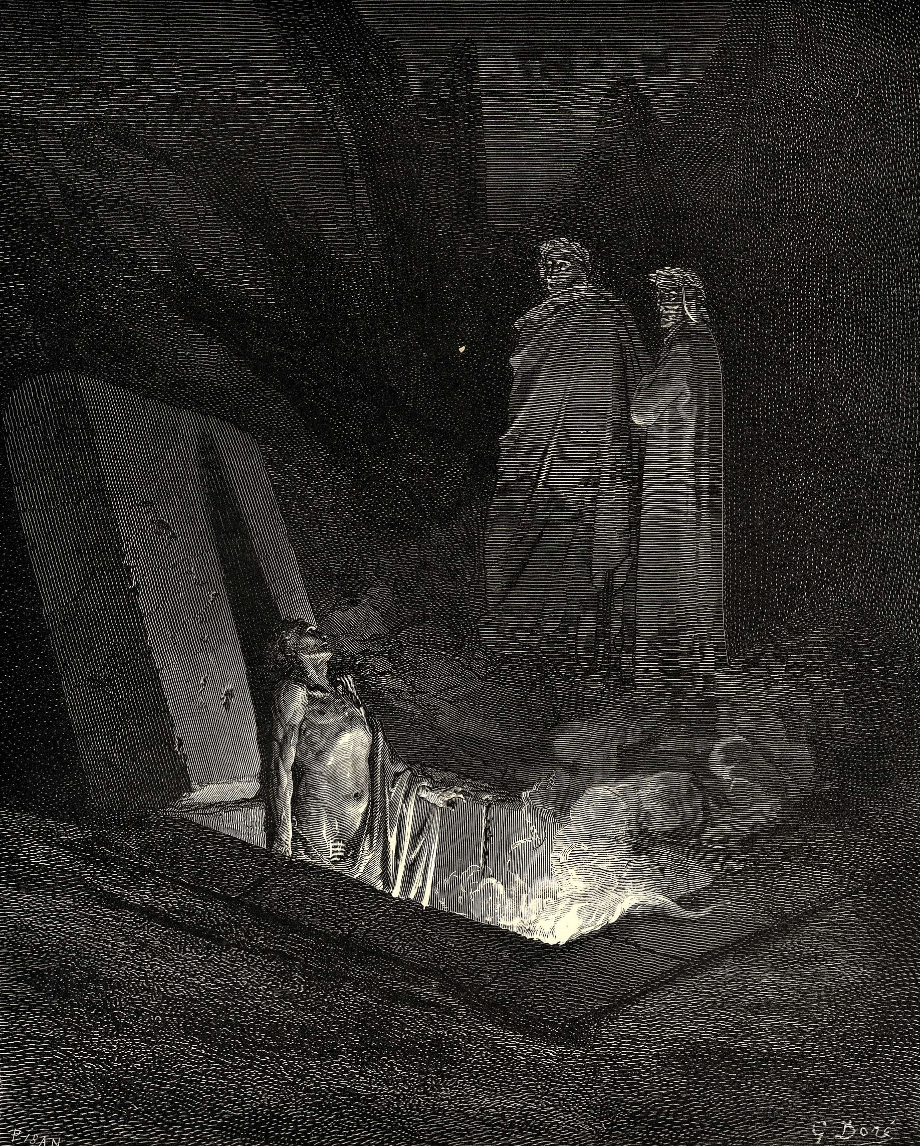 the inferno canto gustave dore org the inferno canto 10 gustave dore