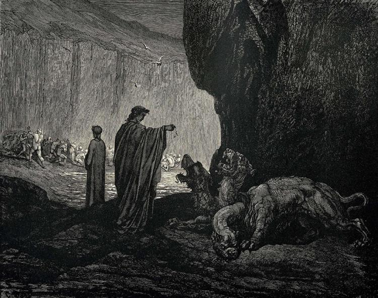 The Inferno, Canto 6 - Gustave Dore