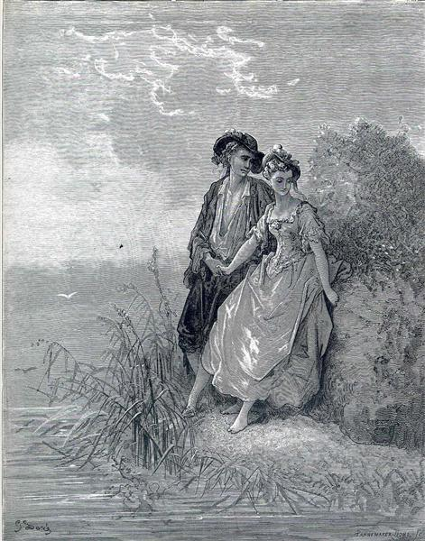 Tircis and amaranth - Dore Gustave