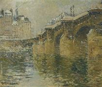 Pont Neuf in the Snow - Gustave Loiseau