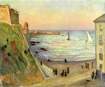 The Port at Collioure - Gustave Loiseau
