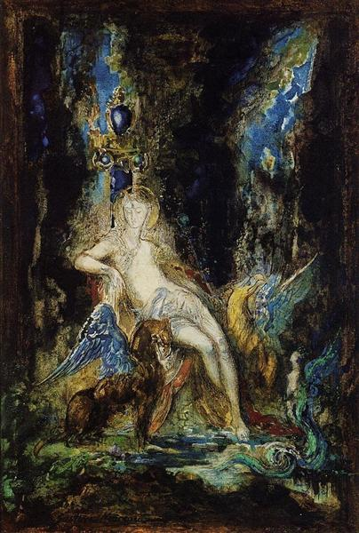 Fairy and Griffon, 1876 - Gustave Moreau