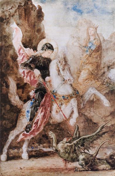 Saint George, 1869 - Gustave Moreau