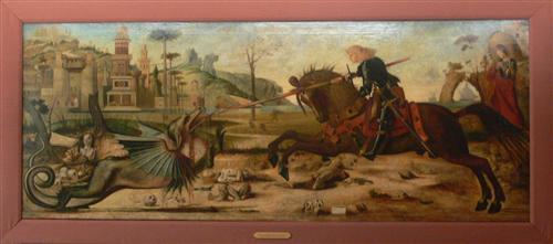 Saint George, after Vittore Carpaccio - Gustave Moreau