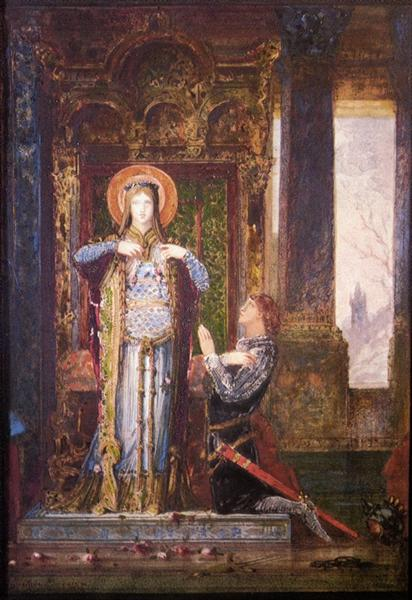 St. Elisabeth of Hungary (The Miracle of the Roses), 1879 - Gustave Moreau