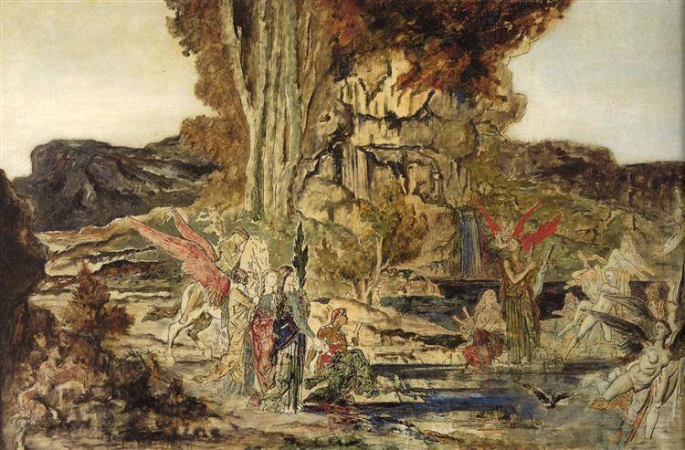 The Pierides, 1886 - 1889 - Gustave Moreau