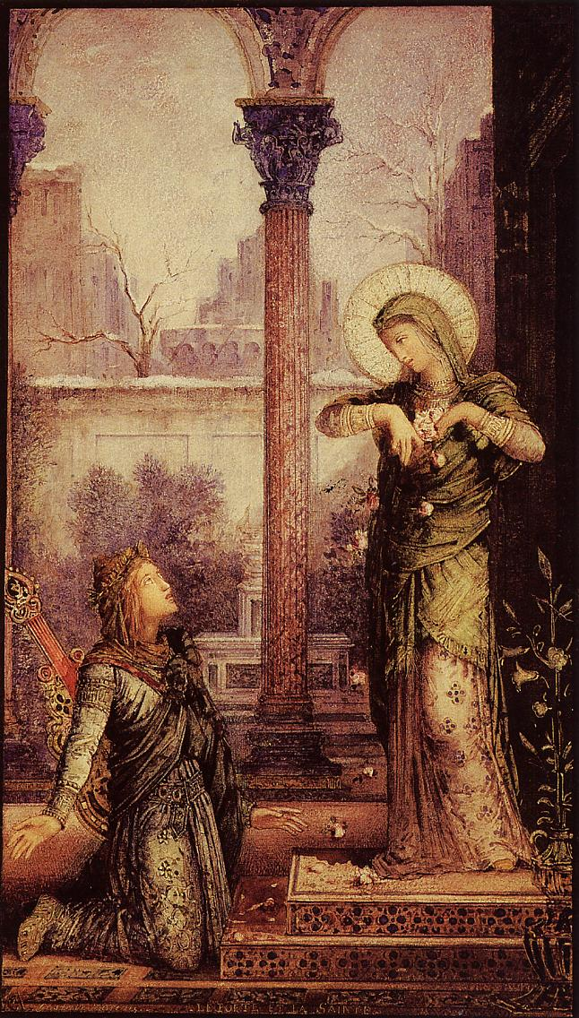 the poet and the saint  1868 - gustave moreau