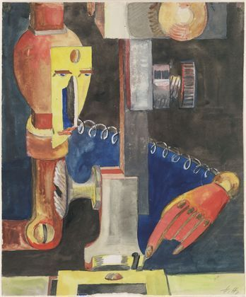 Study for Man and Machine, 1921 - Hannah Höch