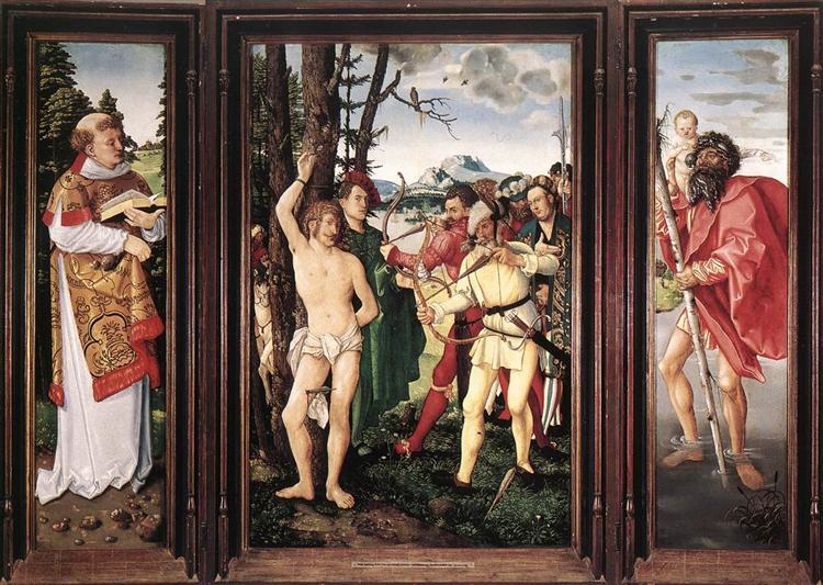 St Sebastian Altarpiece, 1507 - Hans Baldung