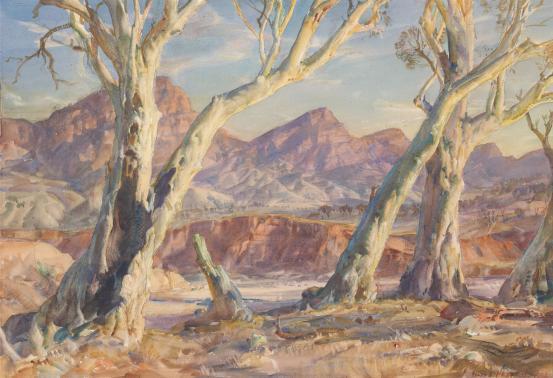 Flinders Ranges landscape, 1956 - Hans Heysen