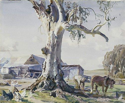 The farmyard gum, 1936 - Hans Heysen