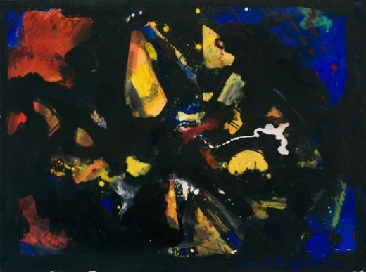 Shapes in Black, 1944 - Ганс Гофман