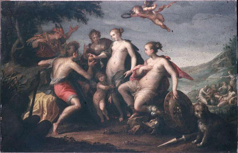 The judgment of Paris, 1588