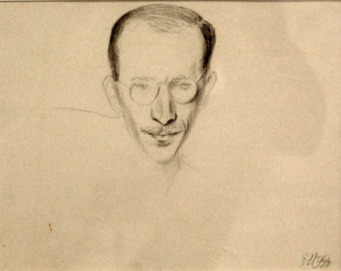 The Artist Saul Steiberg, 1944 - Hedda Sterne