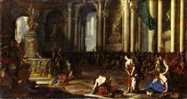Hannibal schwört den Römern ewige Feindschaft - Johann Heinrich Schönfeld