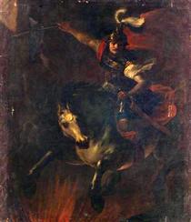 Opfertod des Marcus Curtius - Johann Heinrich Schönfeld