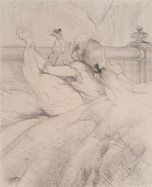 In Bed C 1898 Henri De Toulouse Lautrec Wikiart Org