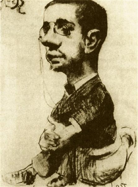 Self Portrait, 1882 - Henri de Toulouse-Lautrec