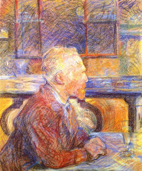 Portrait of Vincent van Gogh, 1887 - Henri de Toulouse-Lautrec
