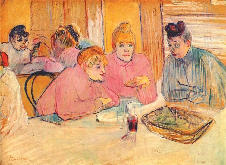 Prostitutes Around a Dinner Table, c.1893 - c.1894 - Henri de Toulouse-Lautrec
