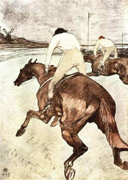 The Jockey, 1899 - Henri de Toulouse-Lautrec