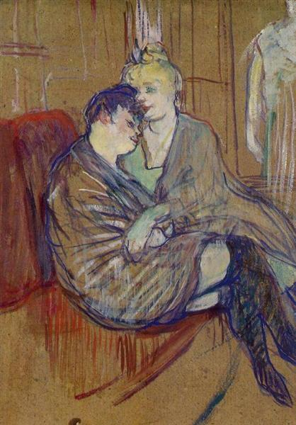 The Two Girlfriends, 1894 - Henri de Toulouse-Lautrec