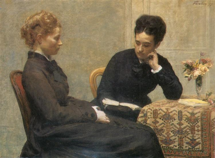 Reading, 1877 - Henri Fantin-Latour