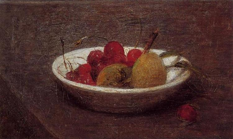 Still Life of Cherries and Almonds, 1870 - Henri Fantin-Latour