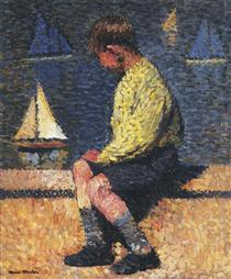 A Boy with Sailboats - Henri Martin