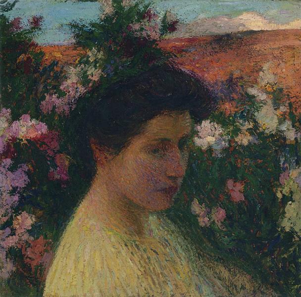 In Flowers - Henri Martin