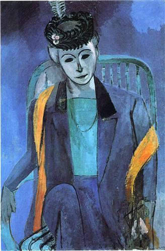 Portrait of Mme. Matisse  - Henri Matisse