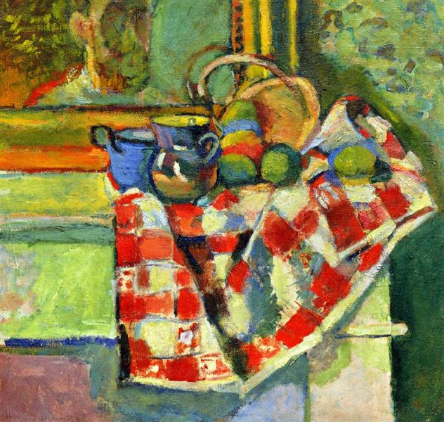 Still Life with a Checked Tablecloth, c.1903 - Henri Matisse