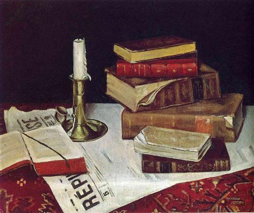Still Life with Books and Candle  - Henri Matisse