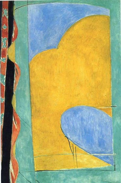 The Yellow Curtain, c.1915 - Henri Matisse