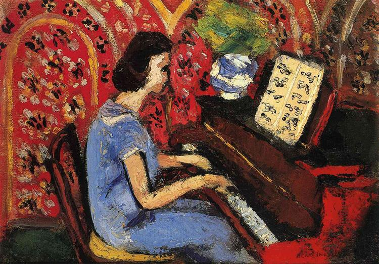 Woman at the Piano, 1924 - Henri Matisse